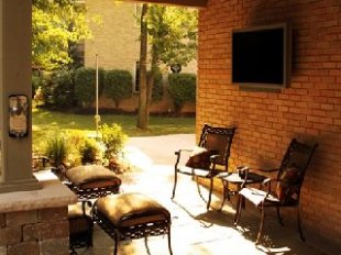 Outdoor TV another angle