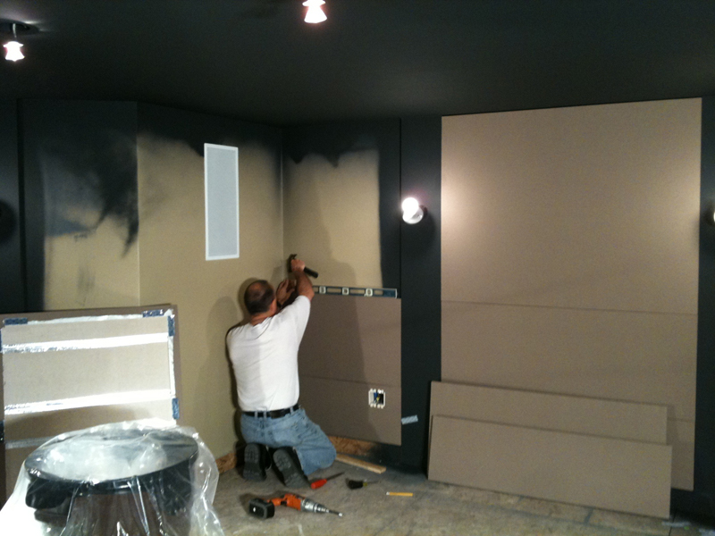 Putting Up the Acoustic Panels
